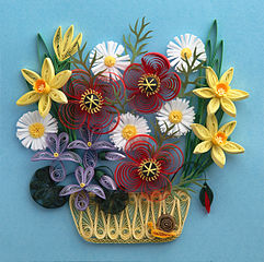 Paper Craft Quilled flowers sample quilling picture Paper Recycle for Sale: A Value Added to Wasted Old Papers