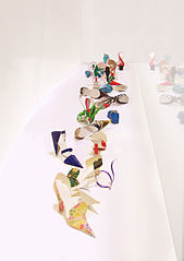 Paper Craft Shoes Paper Sculptures Three Dimensional Paper Crafts and Arts for Gifts and Collections